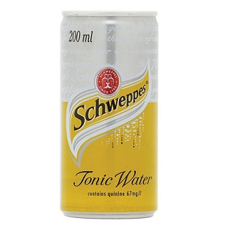 Schweppes tonic water label